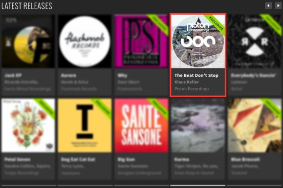 KLAUS KELLER – THE BEAT DON'T STOP FEATURED BY BEATPORT