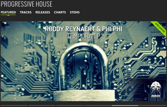 RODDY REYNAERT & PHI PHI – TEMPORA EP FEATURED BY BEATPORT