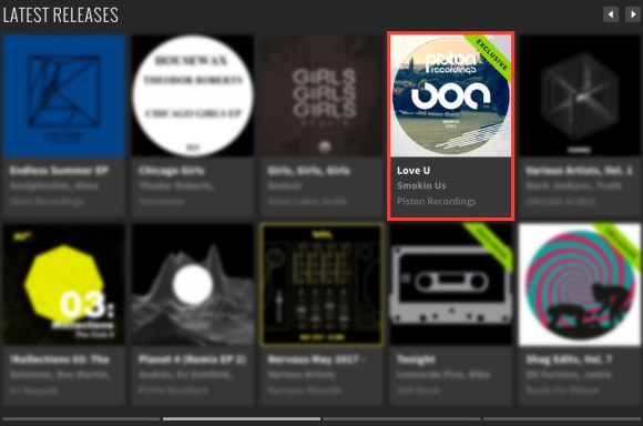 SMOKIN US – LOVE U FEATURED BY BEATPORT