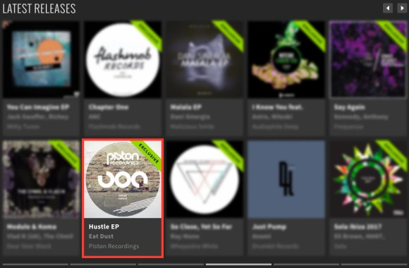 EAT DUST – HUSTLE EP FEATURED BY BEATPORT