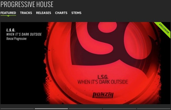 L.S.G. – WHEN IT'S DARK OUTSIDE FEATURED BY BEATPORT
