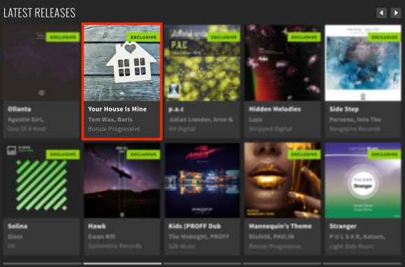 TOM WAX & BORIS ALEXANDER – YOUR HOUSE IS MINE FEATURED BY BEATPORT