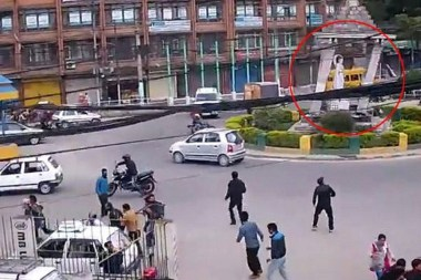 earthquake caught on camera