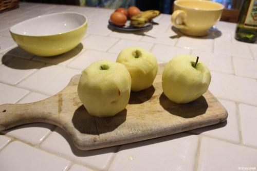 gâteau aux pommes caramélisées