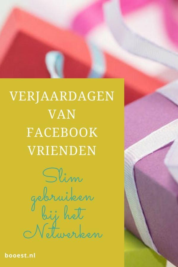 verjaardagen van Facebookvrienden slim gebruiken bij het netwerken