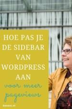 Hoe pas je de sidebar in WordPress aan voor meer pageviews?
