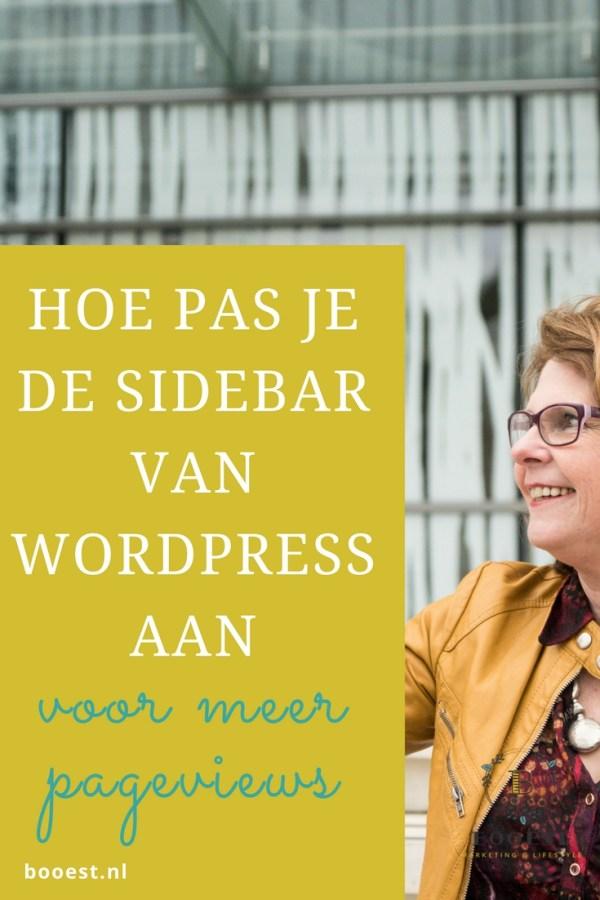 Hoe pas je de sidebar van wordpress aan voor meer pageviews - http://booest.nl/verhoog-je-pageviews-en-pas-je-sidebar-aan/