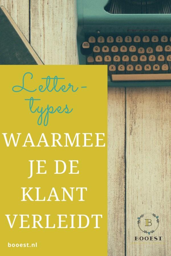 Lettertypes waarmee je de klant verleidt - Booest Pinterest www.www.booest.nl/lettertypes-waarmee-je-de-klant-verleidt