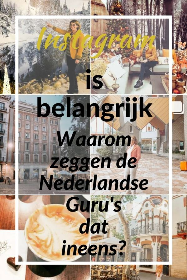 Instagram is belangrijk. Dat zeggen ineens de Nederlandse Guru's. Waarom zeggen ze dat? De feiten.