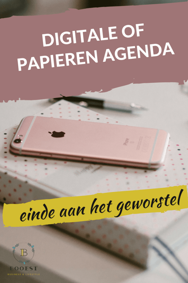 digitale of papieren agenda