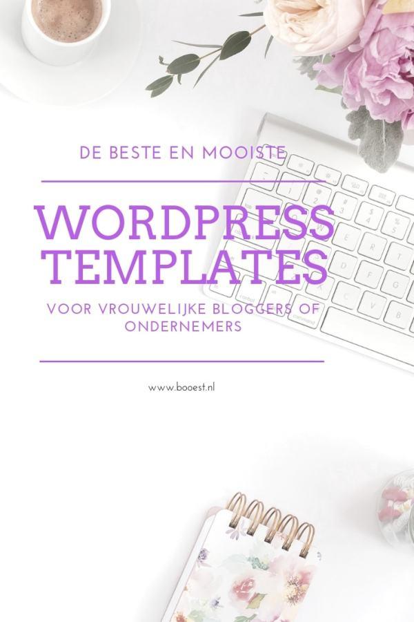 De beste en mooiste wordpress templates voor vrouwelijke bloggers of ondernemers - www.booest.nl