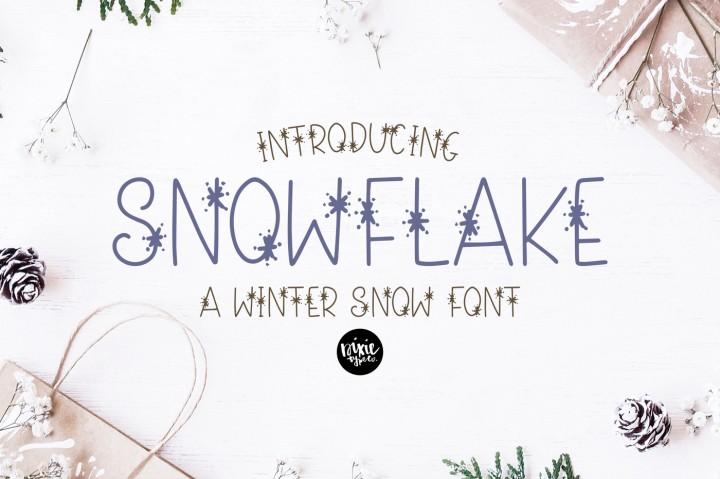 sneeuwvlok winter lettertype www.booest.nl