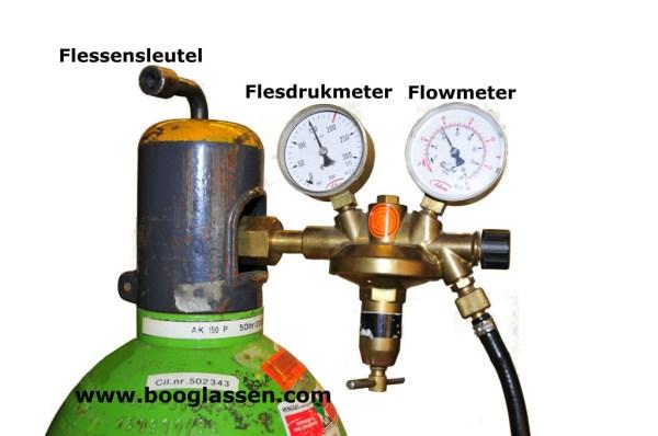 MIG MAG cilinder met reduceertoestel