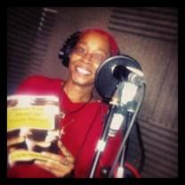 Author Recording in the studio