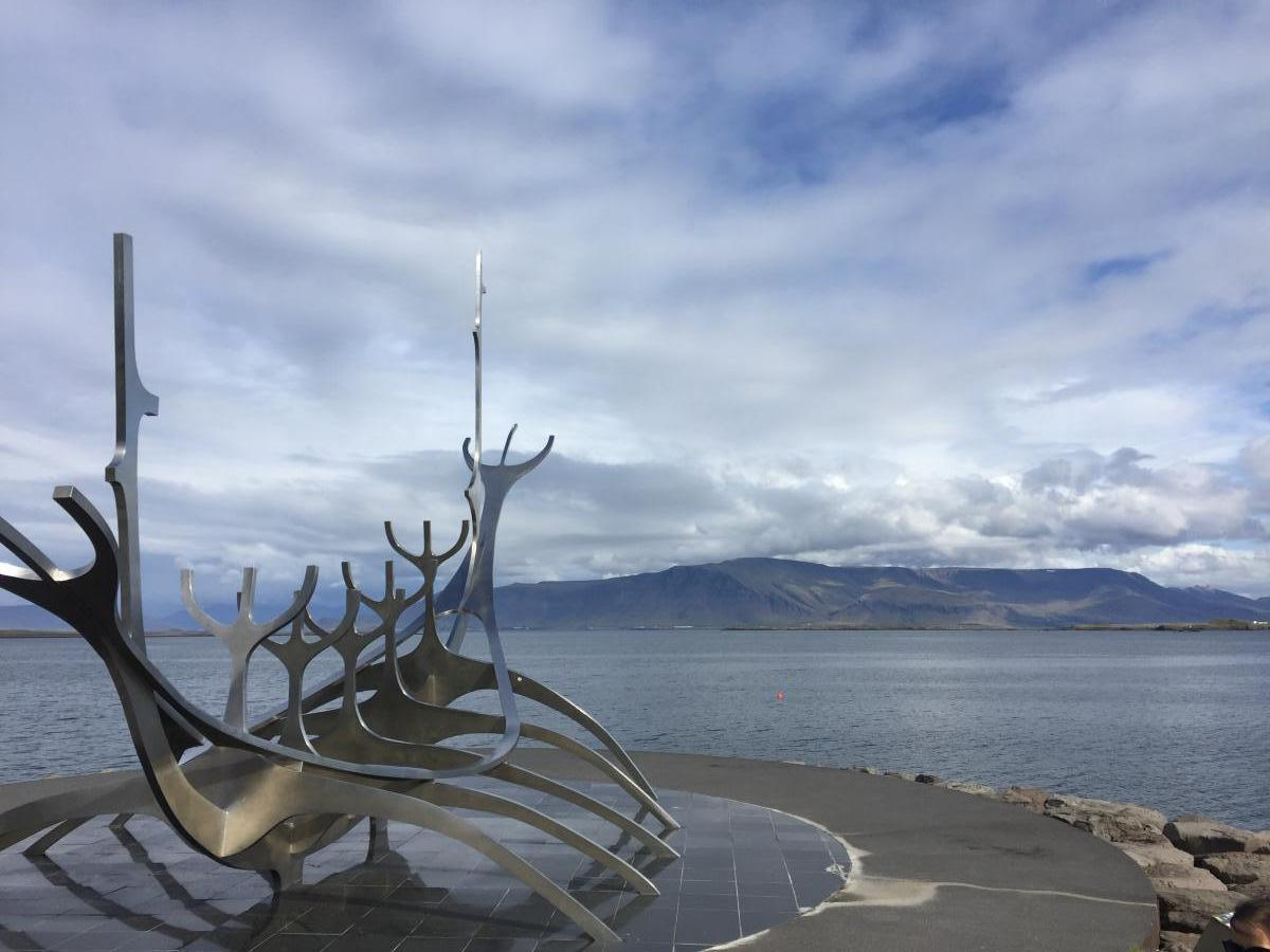 The sculpture for tourists to announce that they're in Iceland