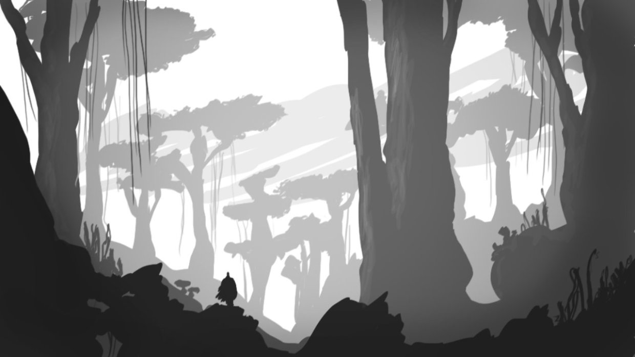Speed painting forêt