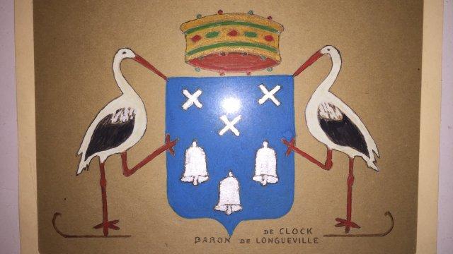 Ancien blason De Clock à la gouache
