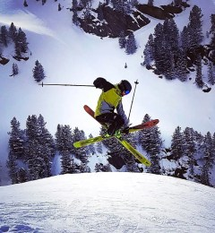 Toni Skiing In Megeve