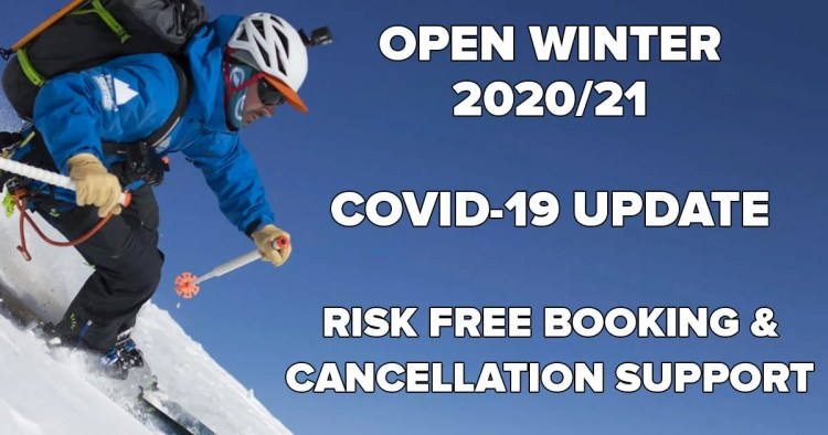 Open Winter 2020/21 COVID-19 Update & Risk Free Booking Support