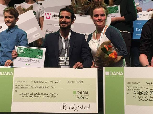 Book2wheel danish entrepreneurship award