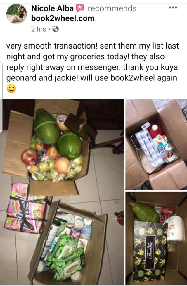 order online groceries in Cebu with just one sms or text message
