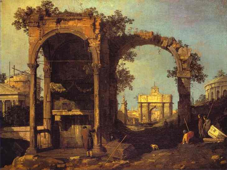 Image result for ruins in painting
