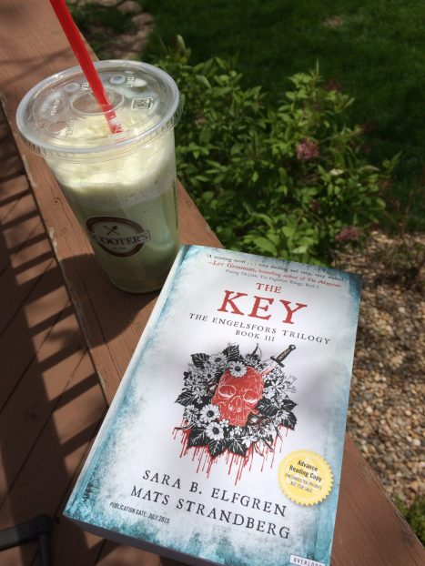 No more grumpy bookseller book and a beverage