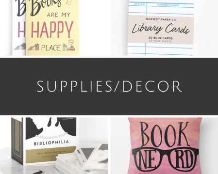 bookish supplies decor
