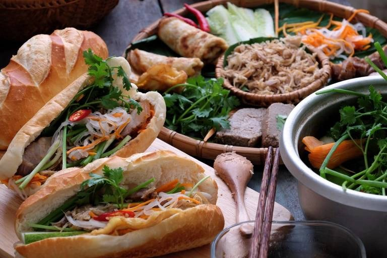 Banh mi sandwiches in Vietnam