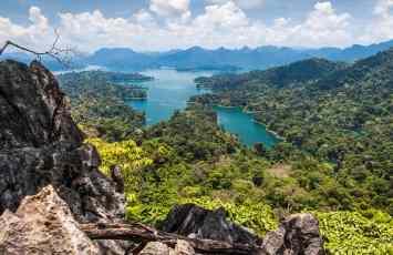 Cheow Lan Lake in Khao Sok National Park, Thailand