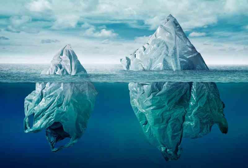 Iceberg of plastic