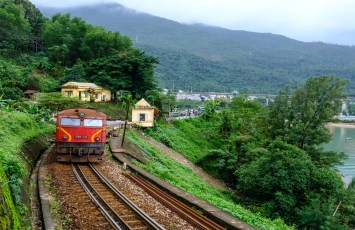 Train from Da Nang to Hue, Vietnam