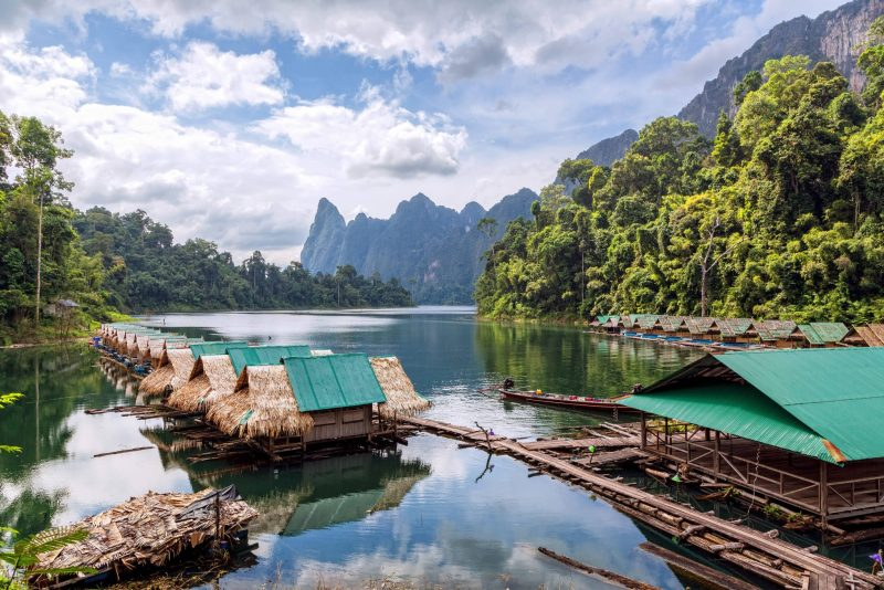 Floating village, Lake Cheow Lan, Khao Sok