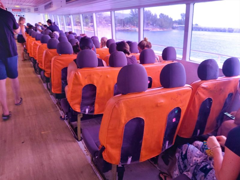 Upper deck, ferry to Ao Nang from Koh Phangan