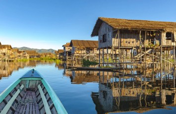 Floating village Inle Lake