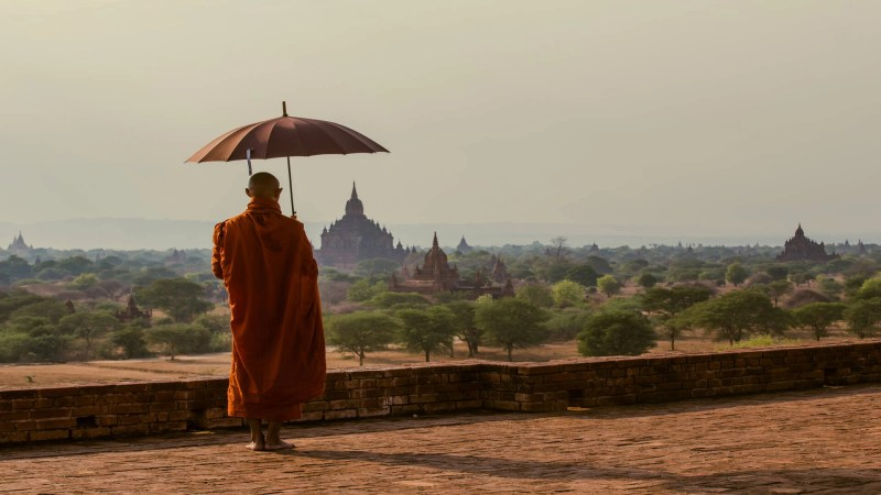 Monk in Bagan, Myanmar