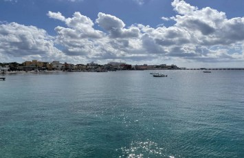 View from ferry, arriving in Cozumel
