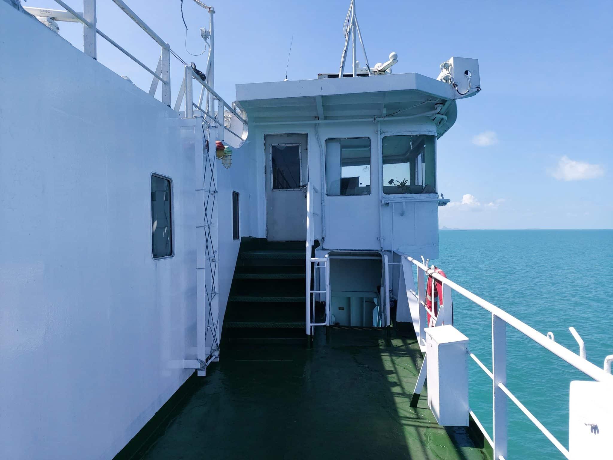 Koh Phangan ferry deck