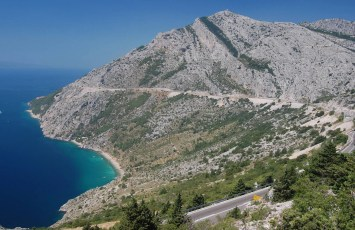 Driving to Split, Croatia