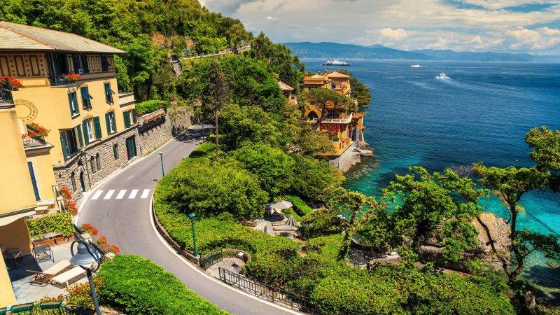 Seaside villas in Portofino, Italy