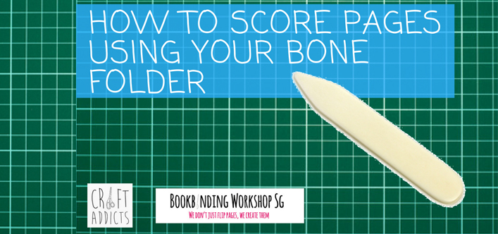 how to score pages with bone folder
