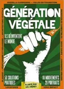 cover art, Génération végétale, Collectif de journalistes (Les Arènes)