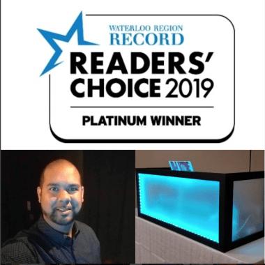 Waterloo Region Record   Reader's Choice 2019   platinum Winner   DJ Vibe