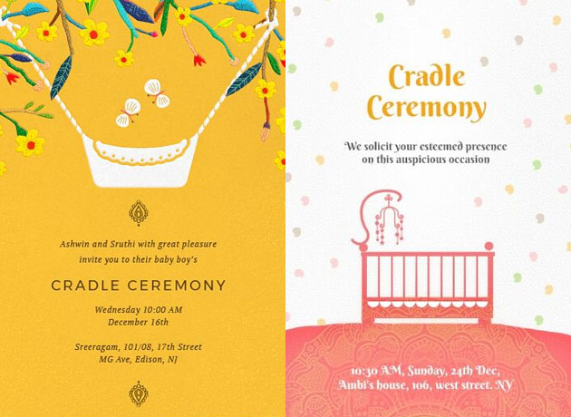 super cute baby naming ceremony