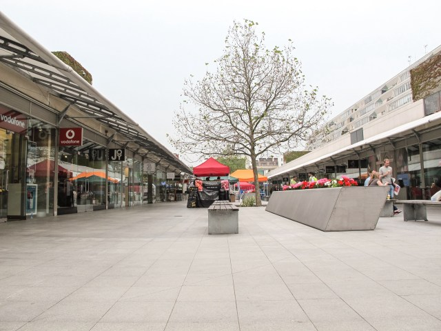 Mall shopping area by lodgings