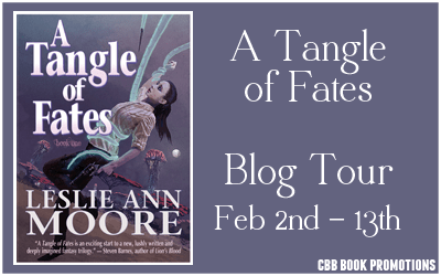 $25 #Giveaway Interview A TANGLE OF FATES by LESLIE ANN MOORE @Leslie_AnnMoore