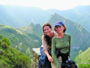 Christy Turlington Burns and her mother in Machu Pichhu.