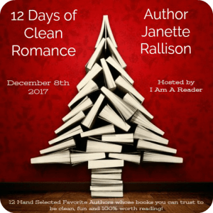 $25 #Giveaway JANETTE RALLISON – 12 Days of Clean Romance @janetterallison Ends 12.21