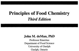 Principles of Food chemistry by deMan