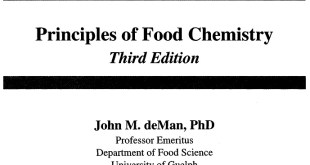 Principles of Food chemistry by deMan